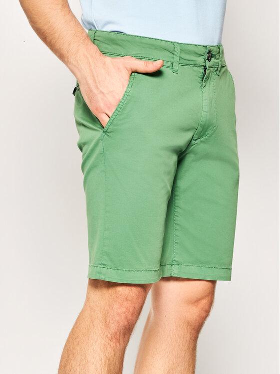 Pepe Jeans Pepe Jeans Pantaloncini di tessuto Mc Queen PM800227C75 Verde Regular Fit