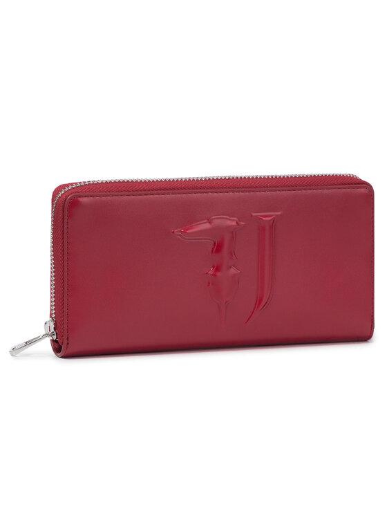 Trussardi Trussardi Jeans Duży Portfel Damski T-Easy Zip 3Pkt Lg 75W00188 Czerwony
