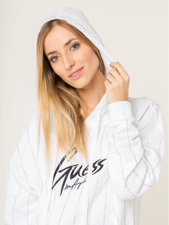 Guess Guess Bluza Krystal W01Q58 K8800 Biały Regular Fit