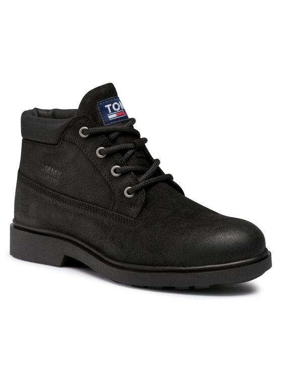 Tommy Jeans Auliniai batai Low Cut Tommy Jeans Boot EM0EM00541 Juoda