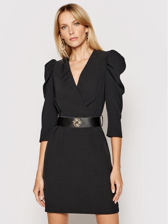Rinascimento Rinascimento Sukienka koktajlowa CFC0101985003 Czarny Slim Fit