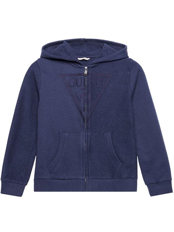 Guess Guess Bluza L1RQ10 KA6R0 Granatowy Regular Fit