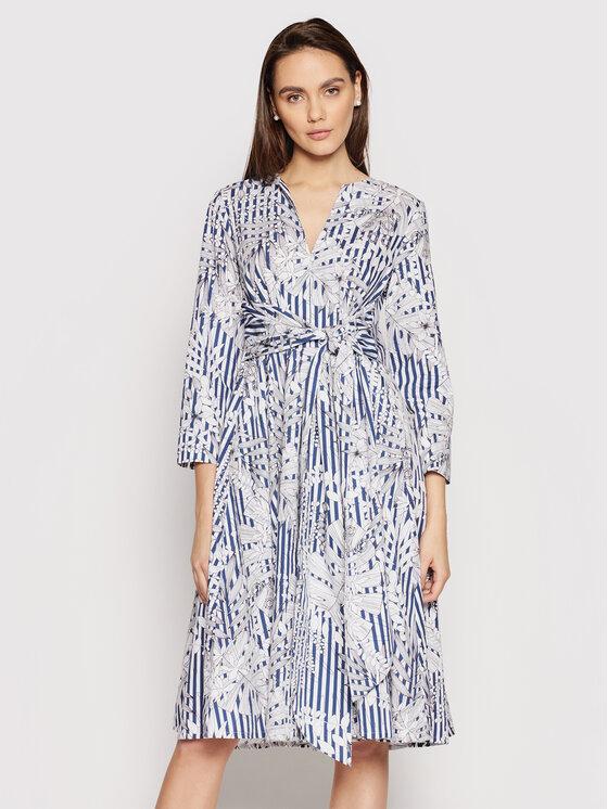 MAX&Co. Kasdieninė suknelė Bandolo 62211021 Balta Regular Fit