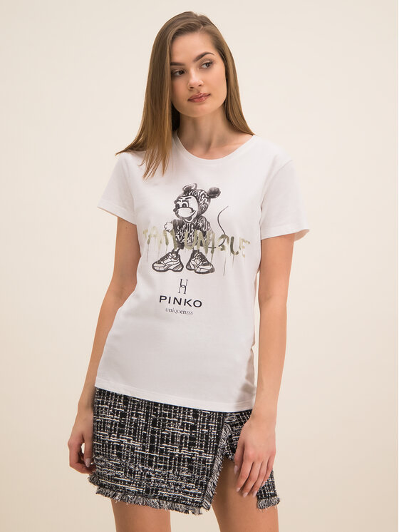 Pinko Pinko Tricou UNIQUENESS Golosa PE 20 UNQS 1Q1043 Y6A5 Alb Regular Fit