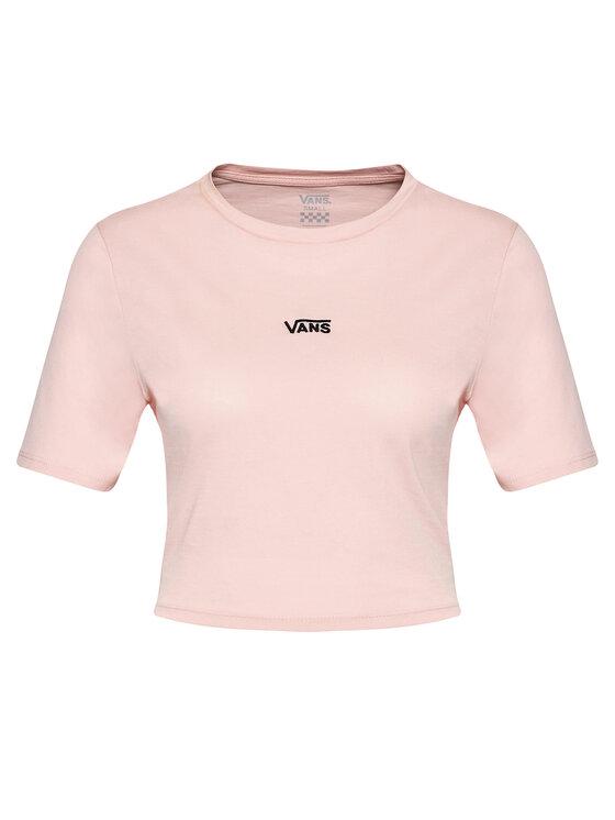 Vans Vans T-Shirt Flying Crop V Cre VN0A54QU Różowy Cropped Fit