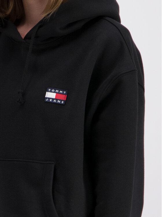 Tommy Jeans Tommy Jeans Pulóver Badge Fleece DW0DW06815 Fekete Oversize