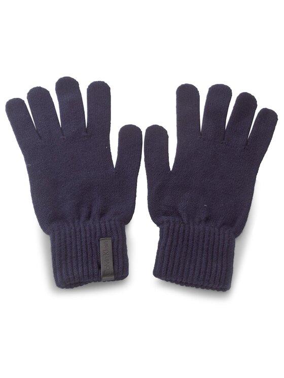 Calvin Klein Calvin Klein Pánske rukavice Octave Knitted Gloves K50K502006 L/XL Tmavomodrá
