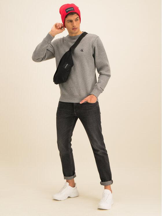 Calvin Klein Jeans Calvin Klein Jeans Mikina Embroidered Logo J30J314536 Sivá Regular Fit