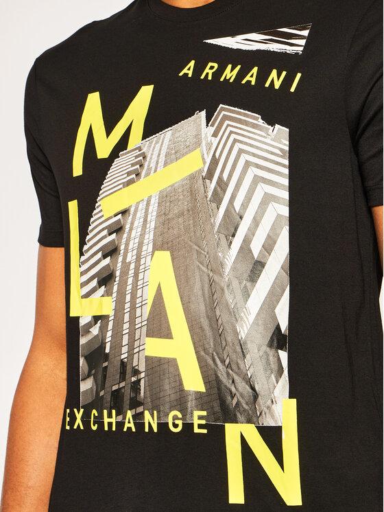 Armani Exchange Armani Exchange Póló 3HZTHP ZJH4Z 1200 Fekete Regular Fit