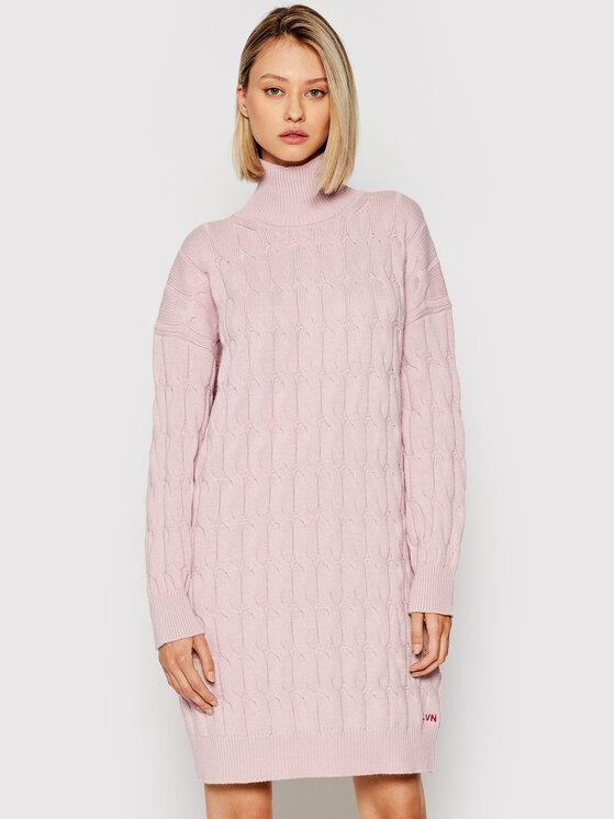 Liviana Conti Trikotažinė suknelė F1WC35 Rožinė Regular Fit