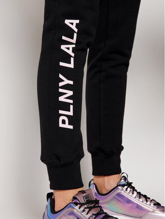 PLNY LALA PLNY LALA Spodnie dresowe Prima PL-SP-TV-00028 Czarny Travel Fit