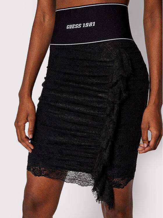 Guess Guess Mini sukně Regina W0YD94 K9I30 Černá Slim Fit
