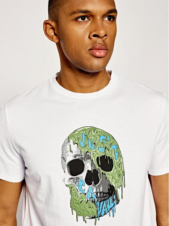 Just Cavalli Just Cavalli T-Shirt S03GC0545 Biały Regular Fit