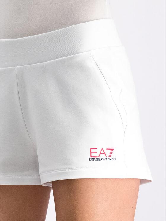 EA7 Emporio Armani EA7 Emporio Armani Sportovní kraťasy 3GTS61 TJ31Z 0192 Bílá Regular Fit