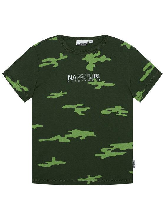 Napapijri Napapijri T-Shirt K Sersa NP0A4EQB D Zielony Regular Fit