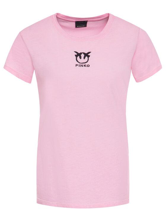 Pinko Pinko Marškinėliai Bussolano PE 20 BLK01 1G14XB Y651 Rožinė Regular Fit