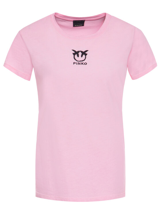 Pinko Pinko T-Shirt Bussolano PE 20 BLK01 1G14XB Y651 Ροζ Regular Fit