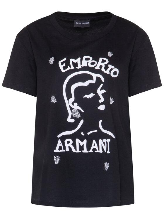 Emporio Armani Emporio Armani Тишърт 3H2T7Q 2J95Z 0999 Черен Regular Fit