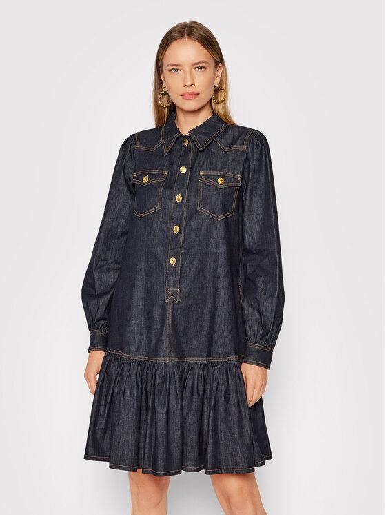 Luisa Spagnoli Džinsinė suknelė Garbato 538434 Tamsiai mėlyna Regular Fit