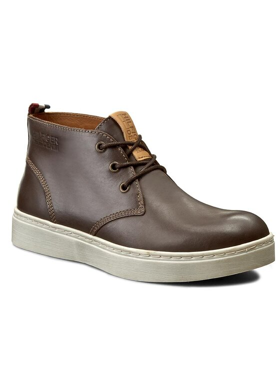 Tommy Hilfiger Tommy Hilfiger Šnurovacia obuv DENIM Webster 2A1 EM56821838 Hnedá