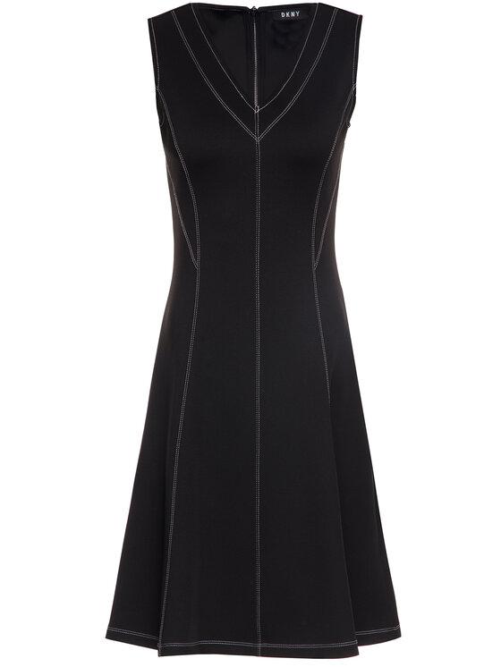 DKNY DKNY Každodenní šaty P9AD7ACA Černá Regular Fit