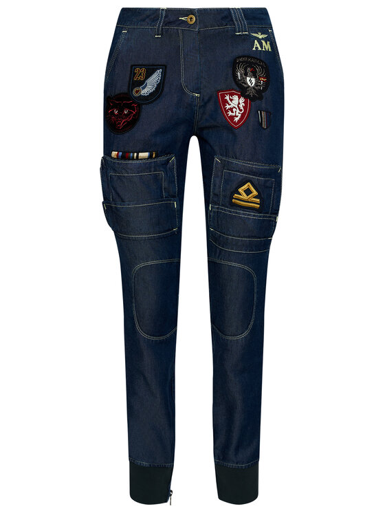 Aeronautica Militare Aeronautica Militare Jeansy 211PA1447DCT2872 Granatowy Regular Fit