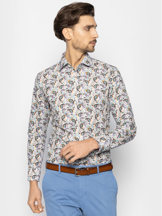 Eton Marškiniai 100000739 Spalvota Slim Fit