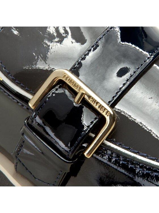 Tommy Hilfiger Tommy Hilfiger Mokasyny Leather Moccasin Hg 1P FW56821796 Granatowy