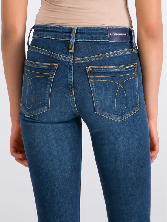 Calvin Klein Jeans Calvin Klein Jeans Skinny Fit džínsy J20J207775 Tmavomodrá Slim Fit