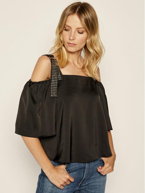 Guess Guess Блуза W93H84 WAEY0 Черен Regular Fit