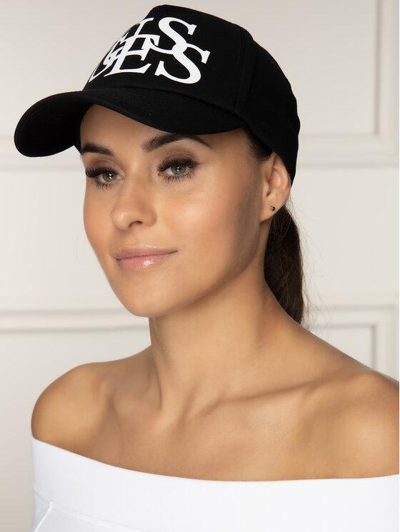 Guess Guess Шапка с козирка Bobbi Hats AW8044 COT01 Черен