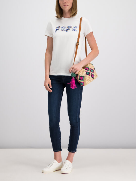 Pepe Jeans Pepe Jeans Тишърт PL504145 Бял Regular Fit