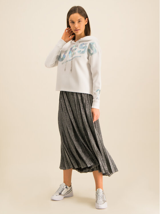 Guess Guess Bluză Isadora W01Q88 K7UW0 Alb Regular Fit