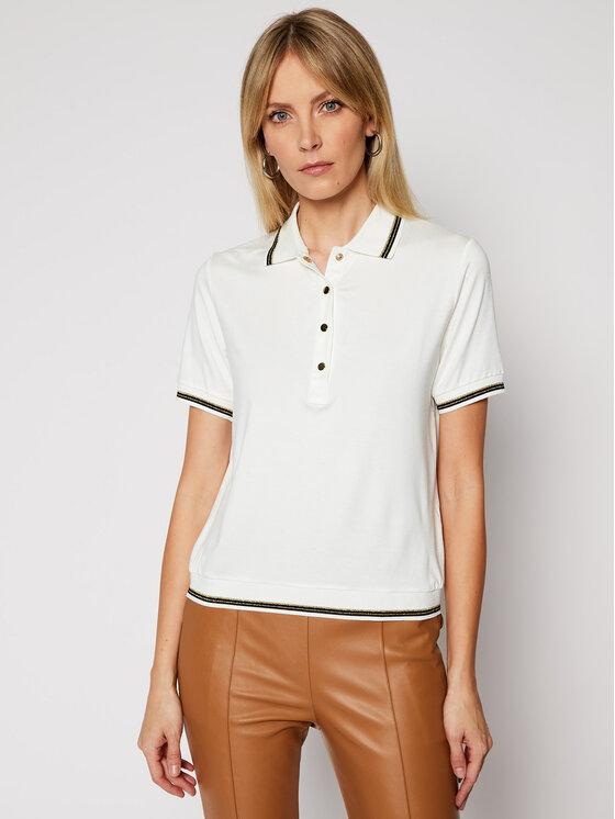 Luisa Spagnoli Polo marškinėliai Biglietto 0660522 Balta Regular Fit