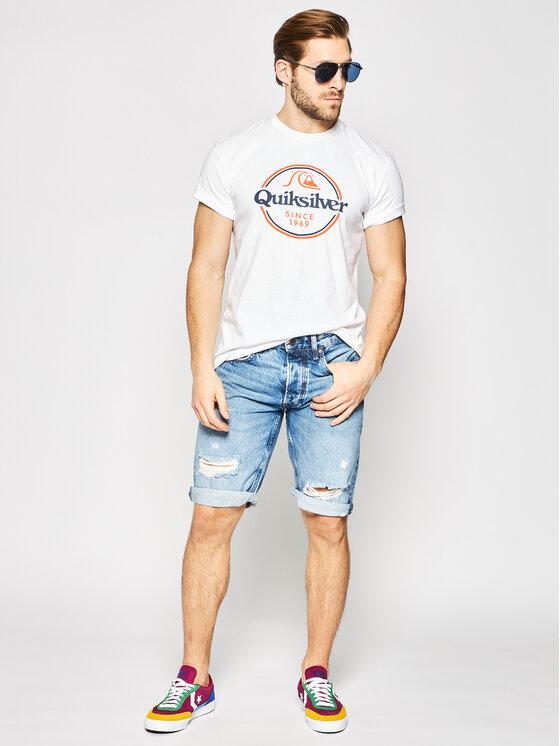 Quiksilver Quiksilver Marškinėliai Words Remain EQYZT05753 Balta Regular Fit