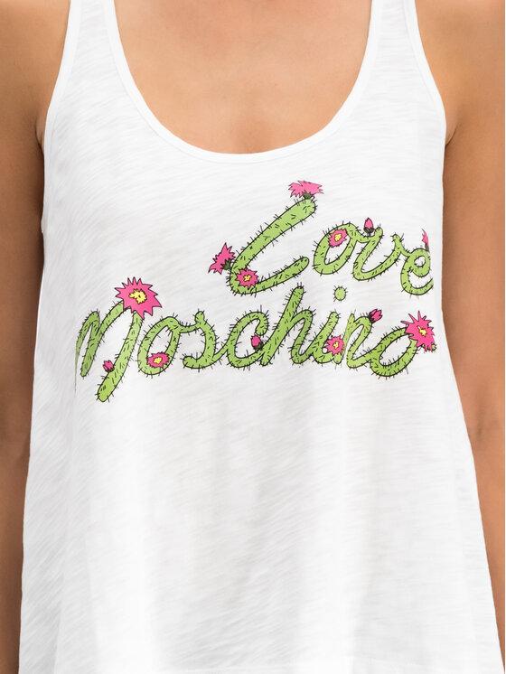 LOVE MOSCHINO LOVE MOSCHINO Marškinėliai W4G8401M 4021 Balta Regular Fit
