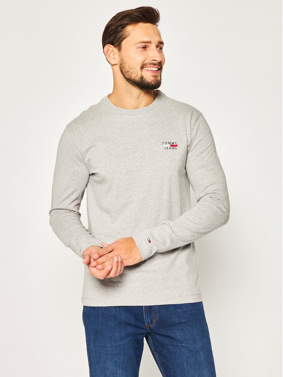 Tommy Jeans Tommy Jeans Longsleeve Tjm Chest Logo Tee DM0DM07617 Grigio Regular Fit