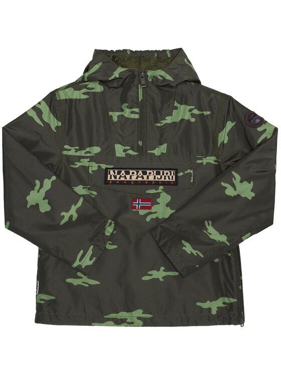 Napapijri Napapijri Átmeneti kabát Rainforest Camu W NP0A4EPG S Zöld Regular Fit