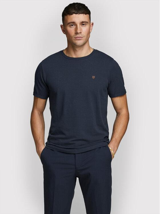 Jack&Jones PREMIUM Marškinėliai Blahardy 12166527 Tamsiai mėlyna Slim Fit