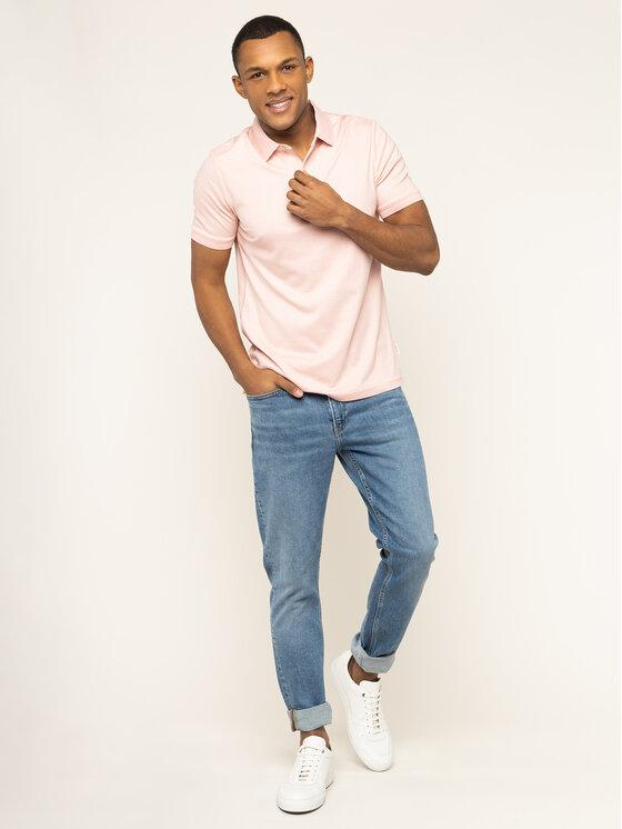Calvin Klein Calvin Klein Polo marškinėliai Soft Interlock K10K105182 Rožinė Slim Fit