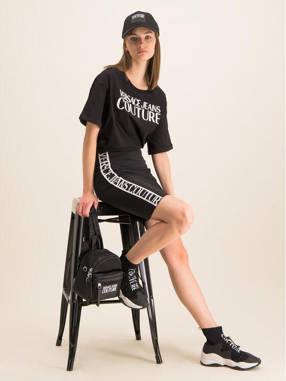 Versace Jeans Couture Versace Jeans Couture Tricou B2HUA7HT Negru Oversize