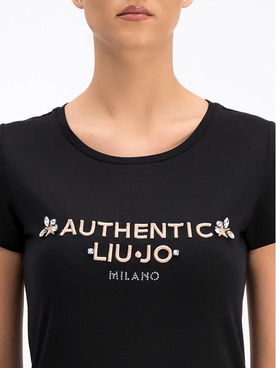 Liu Jo Sport Liu Jo Sport T-Shirt T19158 J5003 Czarny Regular Fit