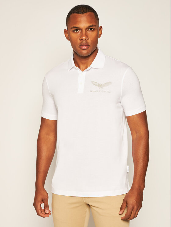 Armani Exchange Armani Exchange Polokošile 6HZFFY ZJBVZ 1100 Bílá Regular Fit