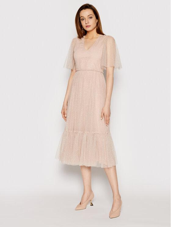 Nissa Kokteilinė suknelė RS12131 Rožinė Regular Fit