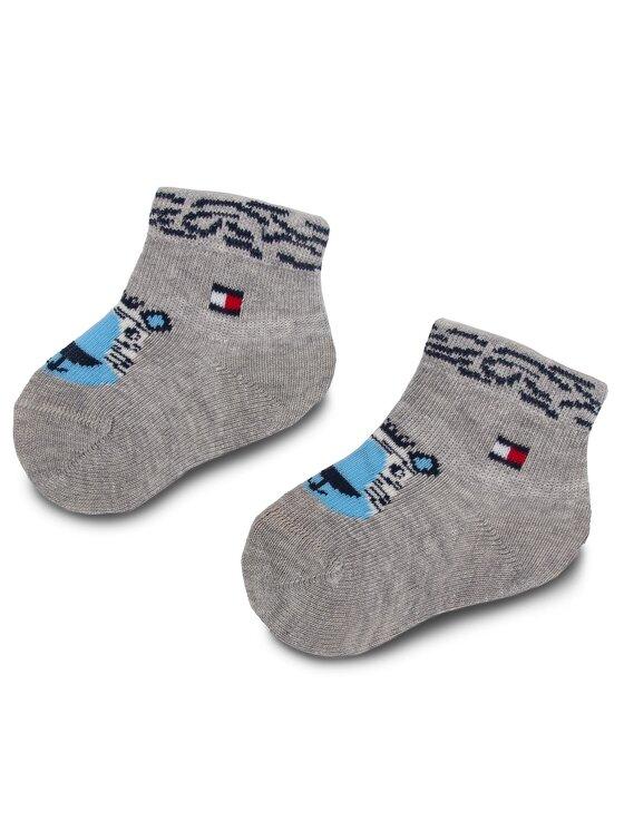Tommy Hilfiger Tommy Hilfiger 3 pár hosszú szárú gyerek zokni 395006001 Sötétkék