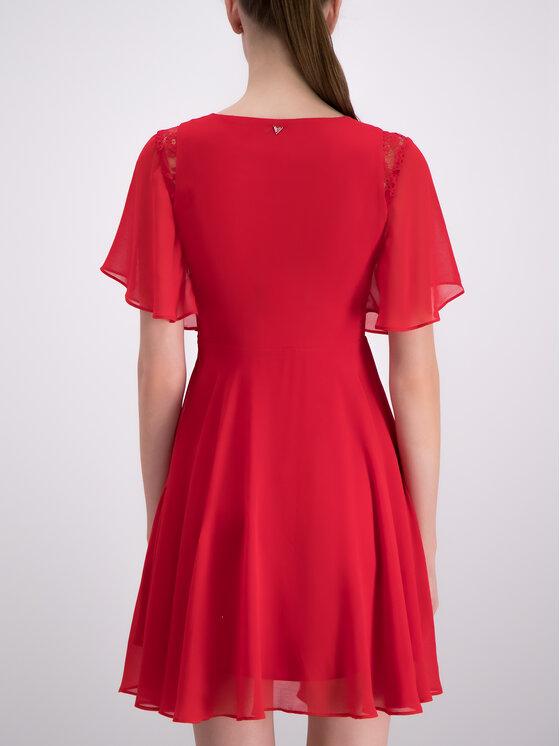 Guess Guess Letní šaty W93K80 W8SL0 Červená Regular Fit