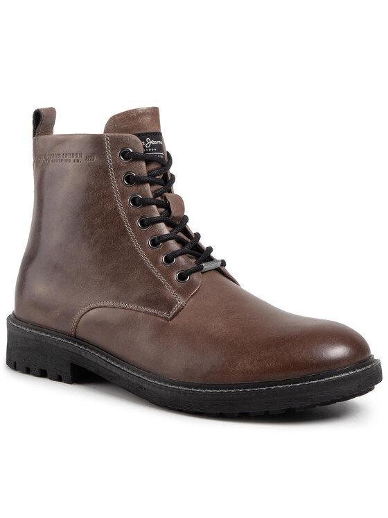 Pepe Jeans Auliniai batai Porter Boot Basic PMS50179 Ruda