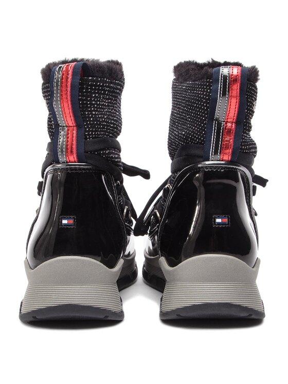 TOMMY HILFIGER TOMMY HILFIGER Μποτάκια Cool Glitter Winter Boot FW0FW03696 Μαύρο