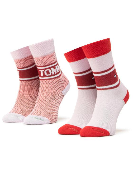 Tommy Hilfiger Tommy Hilfiger Zestaw 2 par wysokich skarpet damskich 100000809 Różowy