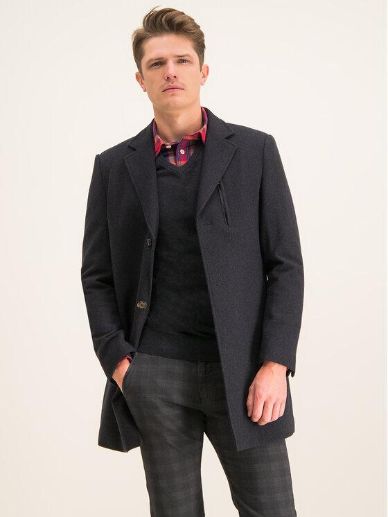 Digel Digel Вълнено палто Divan 1294404 Черен Regular Fit